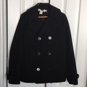 LOGG by H&M black wool peacoat
